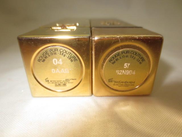 ivu* sun rolan YSL rouge pyu-rukchu-ru lipstick No.04,No.57 2 pcs set free shipping
