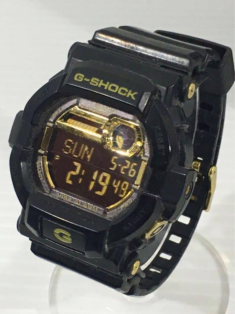 1円★CASIO カシオ G-SHOCK メンズ腕時計 GD-350BR 箱入 中古 稼働中