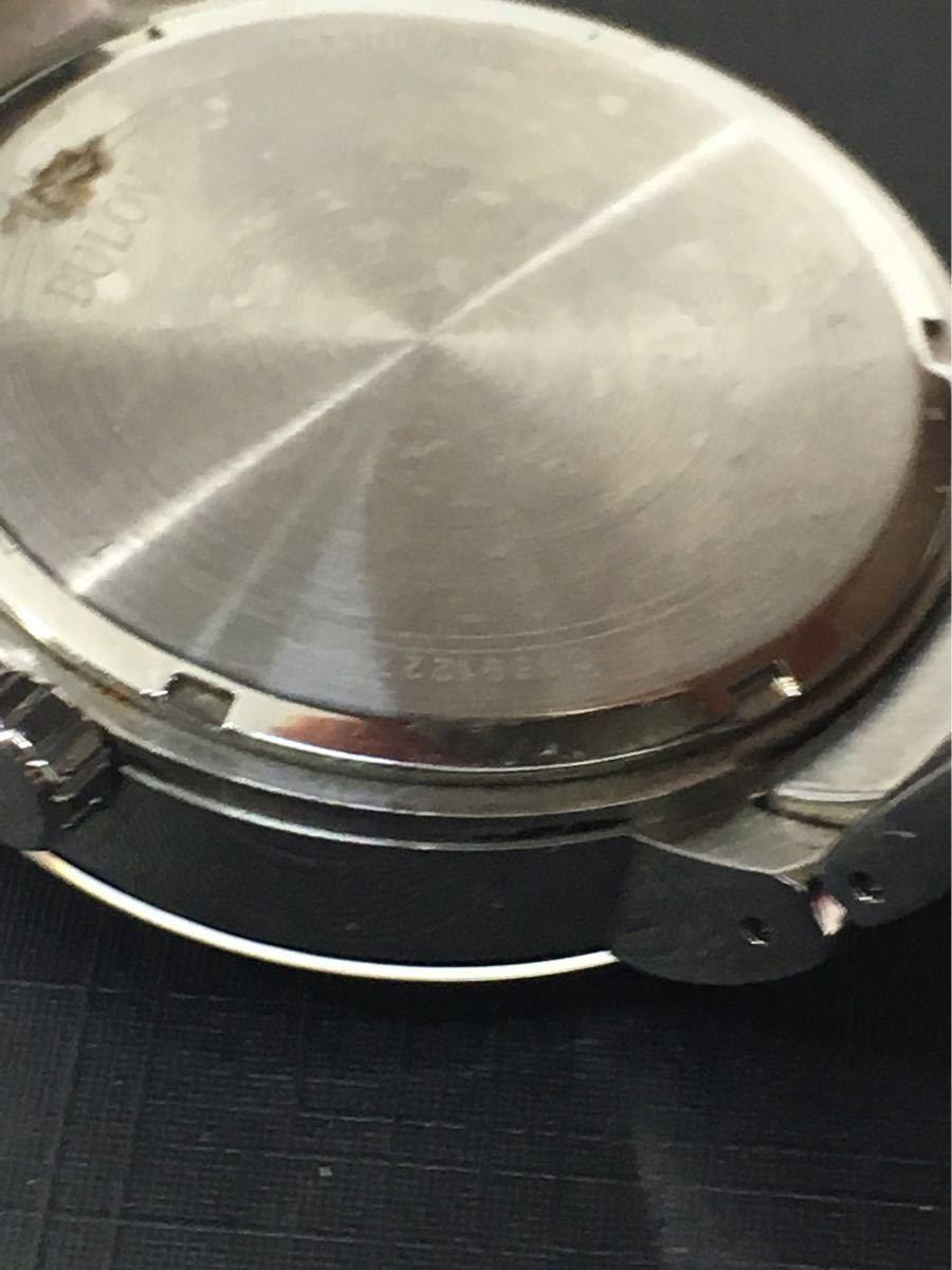 1円★ ブローバ BULOVA メンズ時計 96C105 ブラックシルバー ケース入 中古 コマ有 電池切れ_画像6