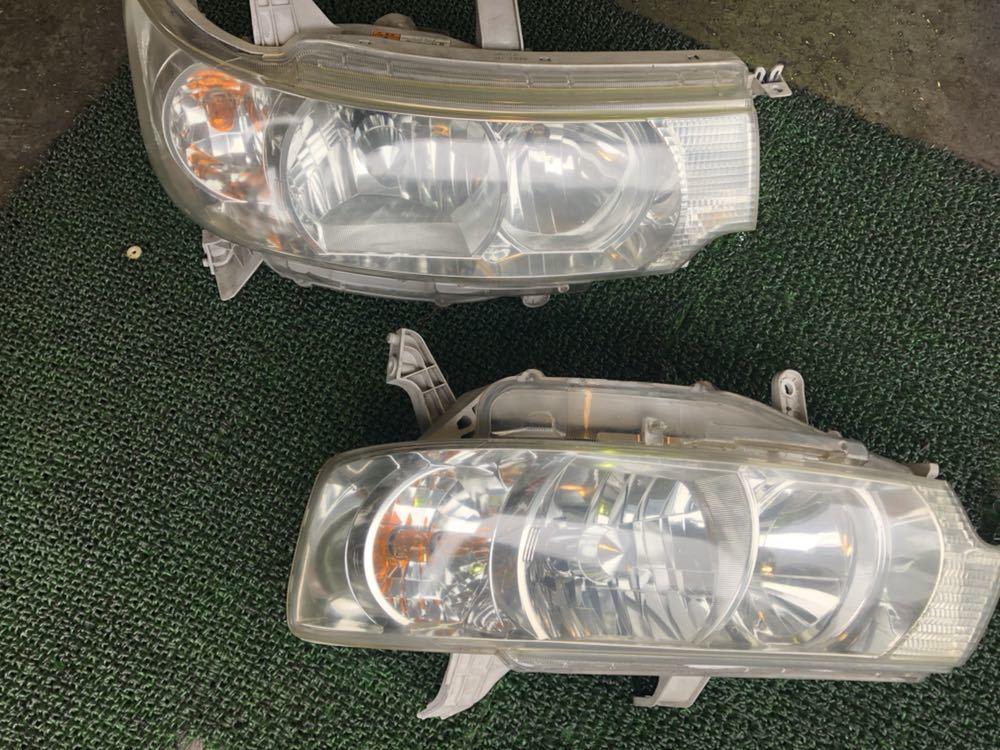 ダイハツ タントカスタム L350S ヘッドライト左右セット 純正HID付き 実働品