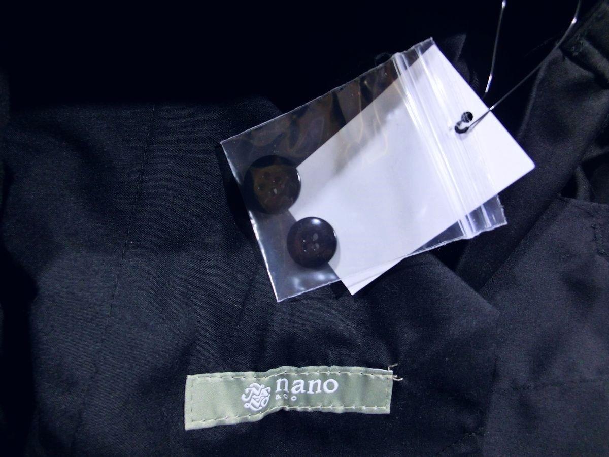 ※705新品 ナノユニバース クロップドパンツ Mサイズ 紺 アンクルパンツ nano・universe_画像5