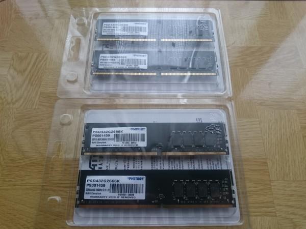 PATRIOT DDR4 2666MHz(PC4-21300) 16GB×4枚 合計64GB XMP2.0対応_画像6