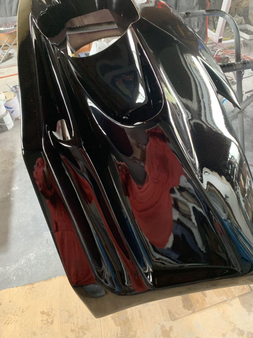 塗装屋だから色変えサービス 塗装後未使用 Z33 フェアレディZ BOMEX FB-02フロントバンパー フォグ付 定価塗装済み約10万 ドリフト _画像3