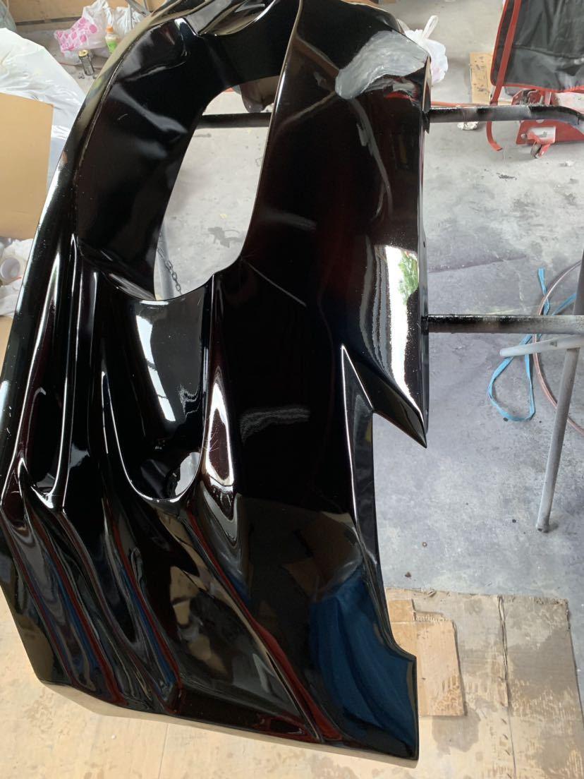 塗装屋だから色変えサービス 塗装後未使用 Z33 フェアレディZ BOMEX FB-02フロントバンパー フォグ付 定価塗装済み約10万 ドリフト _画像2