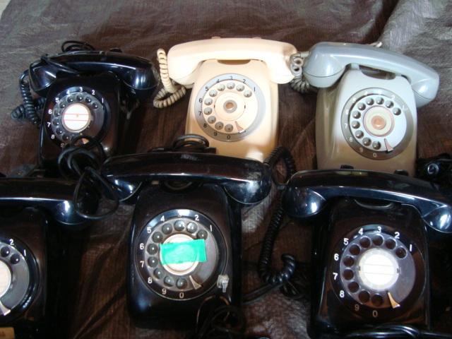 ☆★ai 昭和レトロ ダイヤル式 黒電話 大量10台まとめてセット _画像3