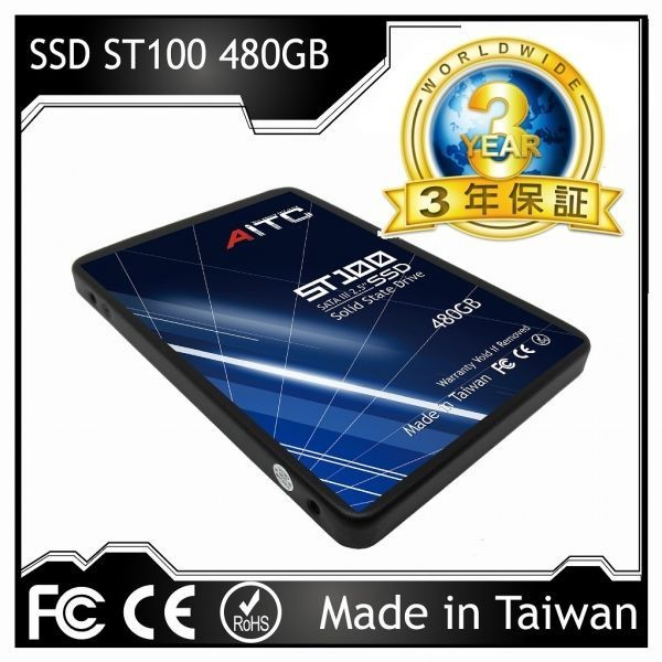 1円~![3年保証/正規品] 新品 大好評! AITC 内蔵 SSD 【480GB】 2.5インチ SATAⅢ 6G/bps MLC採用/Windows 10/Linux Kernel 2.6.31以降