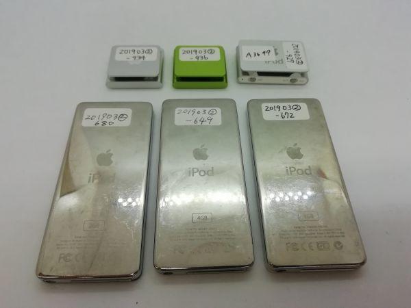 ジャンク 6台セット 送料無料あり ☆同梱可☆APPLE iPod 管理番号⑤A3699_画像2