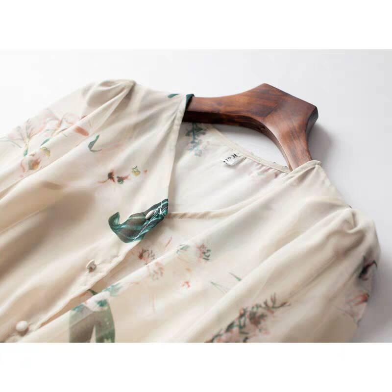 ♪特別な デザイン♪ シフォン 肌触り最高 快適 あなたは甘い夏を過ごしましょう シフォン ワンピースひざ丈スカートスカート _画像3