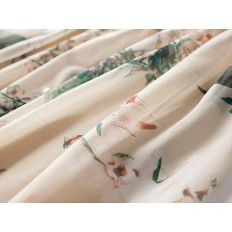 ♪特別な デザイン♪ シフォン 肌触り最高 快適 あなたは甘い夏を過ごしましょう シフォン ワンピースひざ丈スカートスカート _画像4