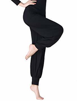 【在庫処分SY2112】レディース ヨガパンツ リラックスパンツ サルエル風 ベリーダンス バレエ ダンスパンツ 体型カバ M_画像2