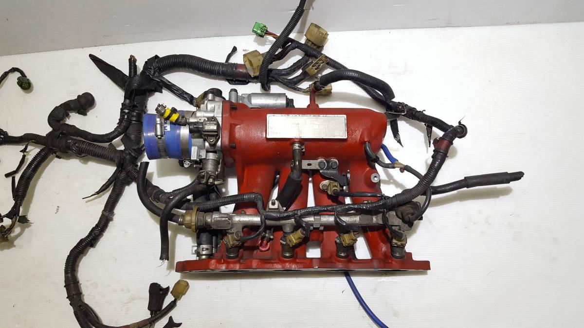 CR-X EF8 シビック ビッグスロットル インマニ サージタンク ハーネス 配線 インジェクター EF9 EG6 EK9 無限 TODA SKUNK RACING_画像2