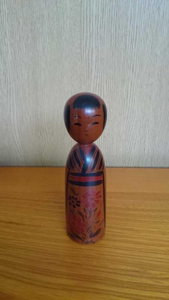 ◆伝統こけし 小野寺正徳11 15cm◆_画像1