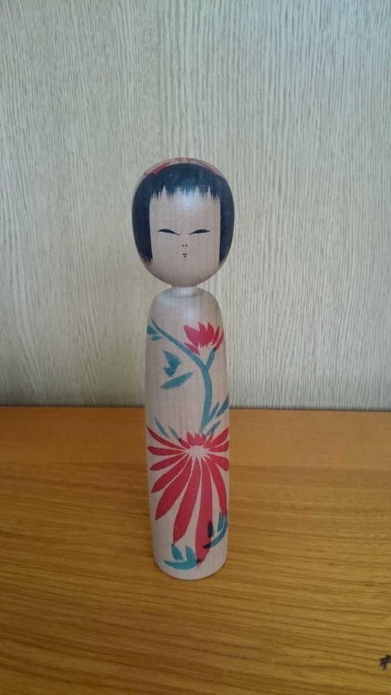 ◆伝統こけし 小野寺正徳12 18cm◆_画像1