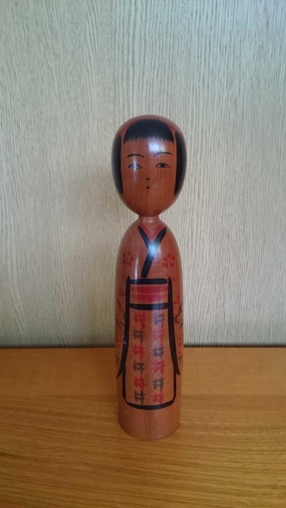 ◆伝統こけし 小野寺正徳9 22cm◆_画像1