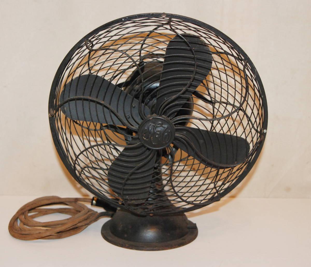 完動品 芝浦製作所扇風機 4枚羽金属製扇風機 戦前 アンティーク 昭和レトロ 風速調整・首振り作動
