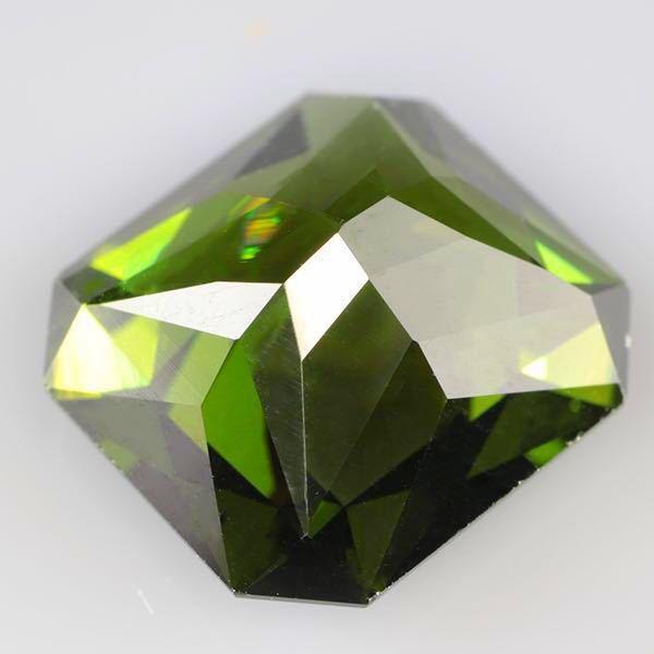 大粒 天然 無処理 非加熱 美しいグリーンジルコン ルース 3.966ctソーティング付きnatural unheat zircon_画像8