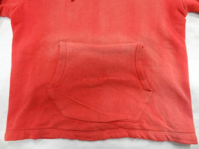ビンテージ PILGRIM ピルグリム シアーズ 50S 60S 超 珍品 変形 裾 リブ なし デザイン 赤 プルオーバー パーカー アジ 雰囲気 レッド 希少_画像3
