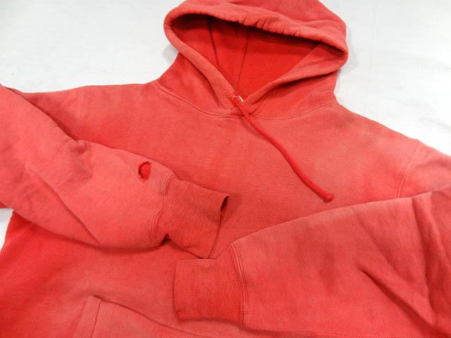 ビンテージ PILGRIM ピルグリム シアーズ 50S 60S 超 珍品 変形 裾 リブ なし デザイン 赤 プルオーバー パーカー アジ 雰囲気 レッド 希少_画像4