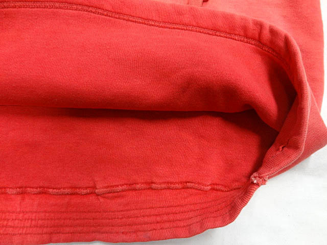 ビンテージ PILGRIM ピルグリム シアーズ 50S 60S 超 珍品 変形 裾 リブ なし デザイン 赤 プルオーバー パーカー アジ 雰囲気 レッド 希少_画像6