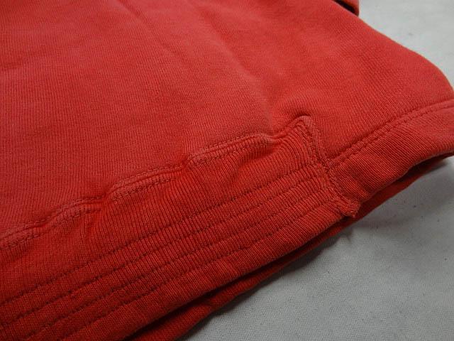 ビンテージ PILGRIM ピルグリム シアーズ 50S 60S 超 珍品 変形 裾 リブ なし デザイン 赤 プルオーバー パーカー アジ 雰囲気 レッド 希少_画像8
