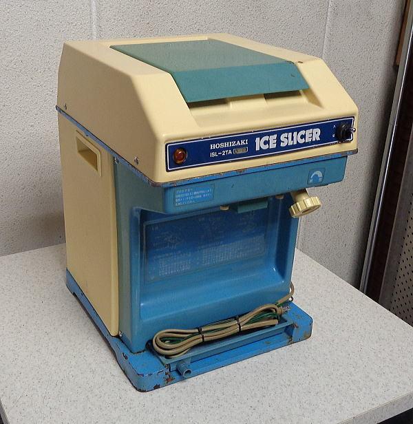 中古 税込 業務用 星崎 ホシザキ 初雪 ハツユキ 卓上 電動100V アイススライサー かき氷り機 かき氷器 ISL-2TA型 作動良好 現状品 状態悪い