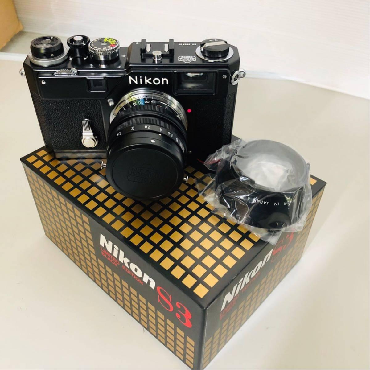 【未使用・美品】Nikon S3 LIMITED EDITION BLACK 50mm F1.4 302435_画像3
