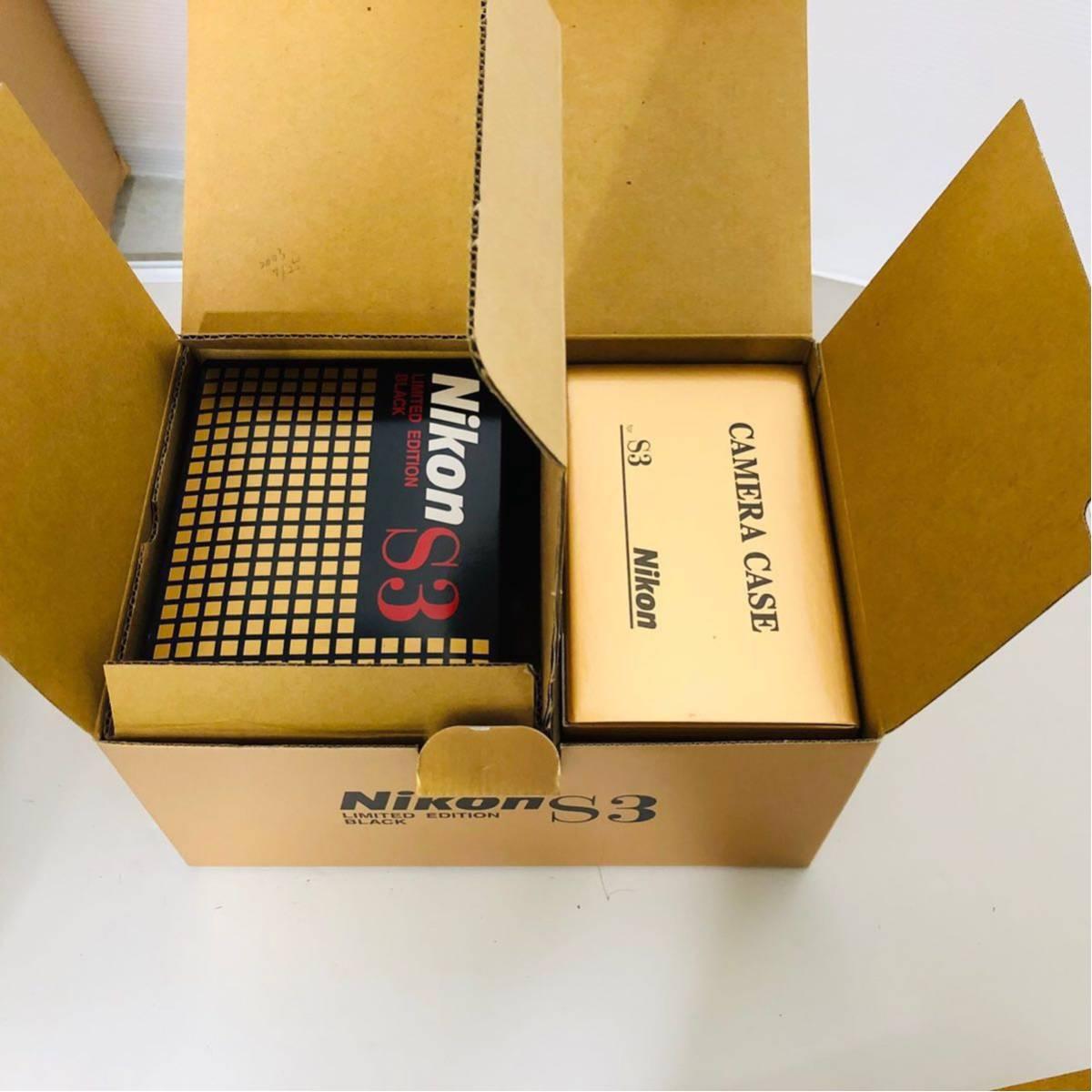 【未使用・美品】Nikon S3 LIMITED EDITION BLACK 50mm F1.4 302435_画像2