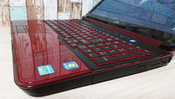 【爆速大容量SSD+ガーネットレッド♪】Windows10☆富士通 AH56/G☆最強 i7-2670QM Max3.10GHz☆新品SSD512GB/8GB/Webcam/Blu-ray/USB3.0☆_画像8