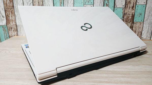 【超爆速大容量SSD+綺麗アーバンホワイト】Windows10☆富士通 AH45/H☆Core i5-3210M(ターボ)☆新品SSD500GB/8GB/Webcam/Blu-ray/Bluetooth_画像3