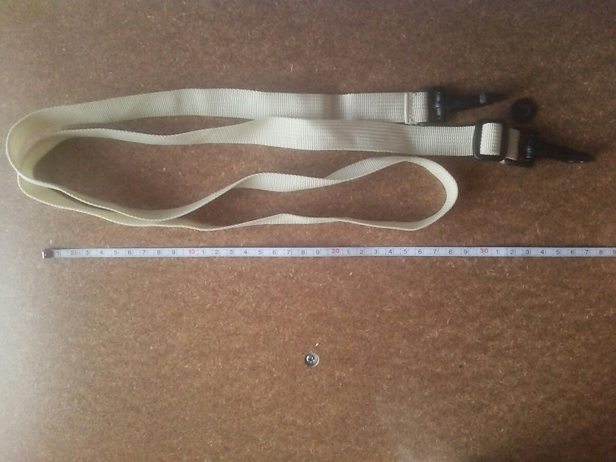128~70cm調整のカバンベージュのベルトフック/ショルダーバッグ留め具_画像1