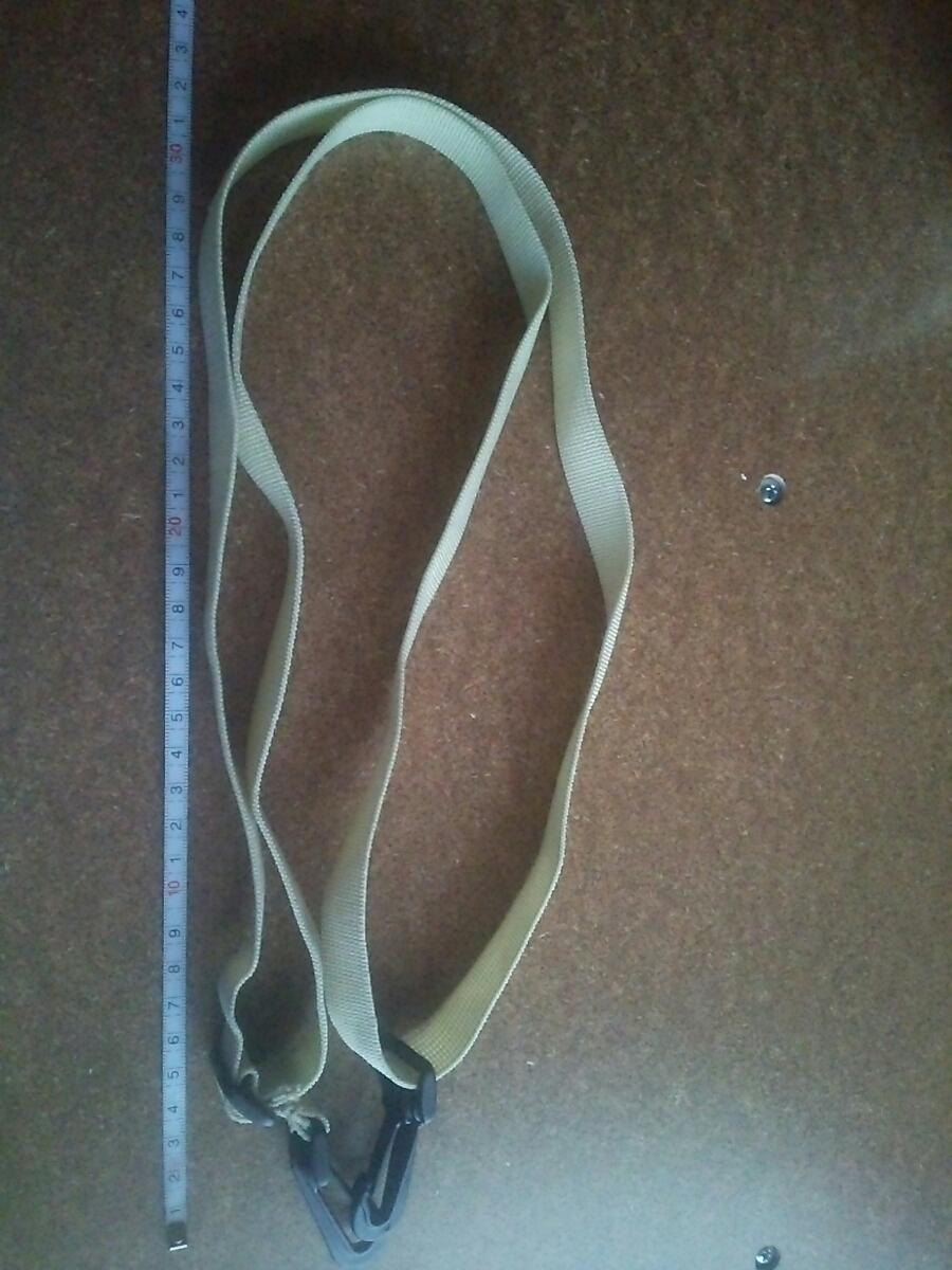 128~70cm調整のカバンベージュのベルトフック/ショルダーバッグ留め具_画像2