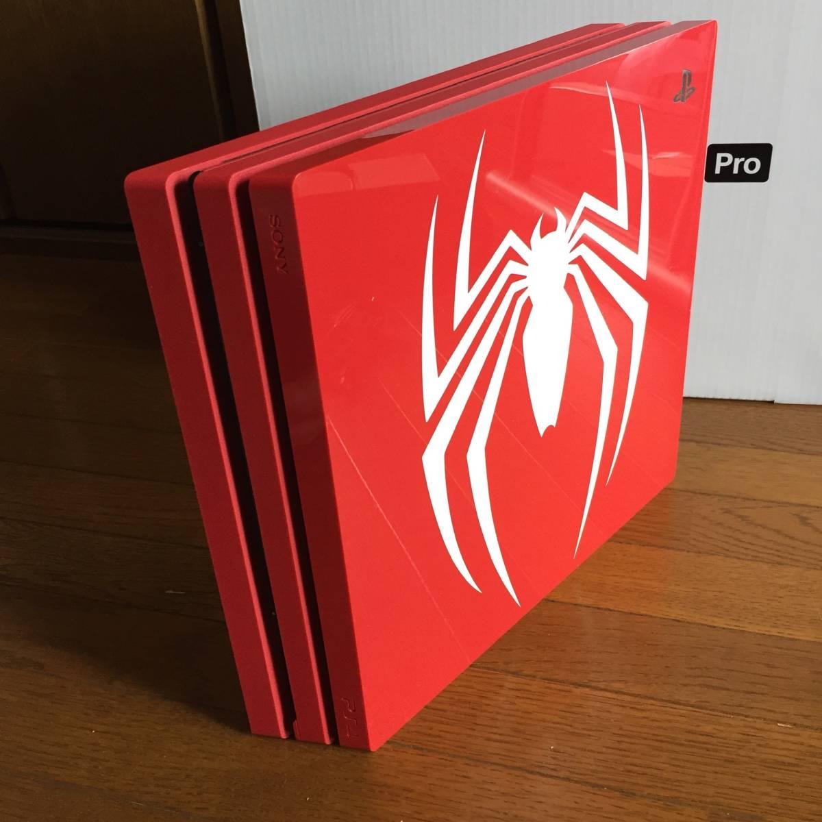PS4 pro スパイダーマン 本体 ソフト欠品 レッド 赤 プロ 1TB 【1000円からスタート】_画像5