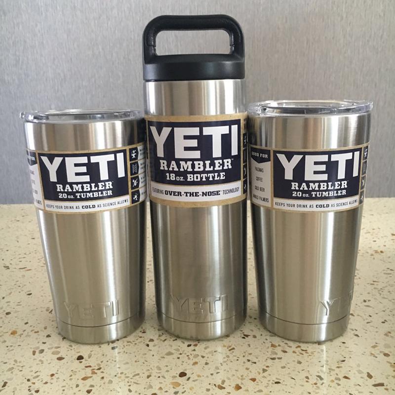 3個組 YETI 1個18oz & 2個20oz 真空断熱 保温/冷 タンブラー★イエティ RAMBLER Bottle Tumbler ミリタリー 水筒 304食用ステンレス