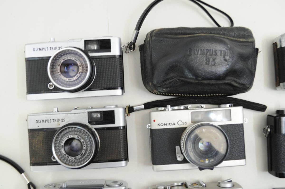 【ecoま】コンパクトフィルムカメラ 12台まとめて olympus pen/DC/TRIP35/konica/yashica35 cc_画像3
