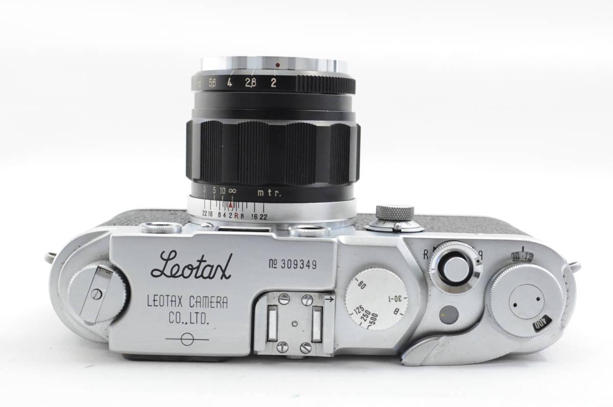 【ecoま】レオタックス Leotax LEONON 5cm F2レンズ付き レンジファインダーカメラ_画像5