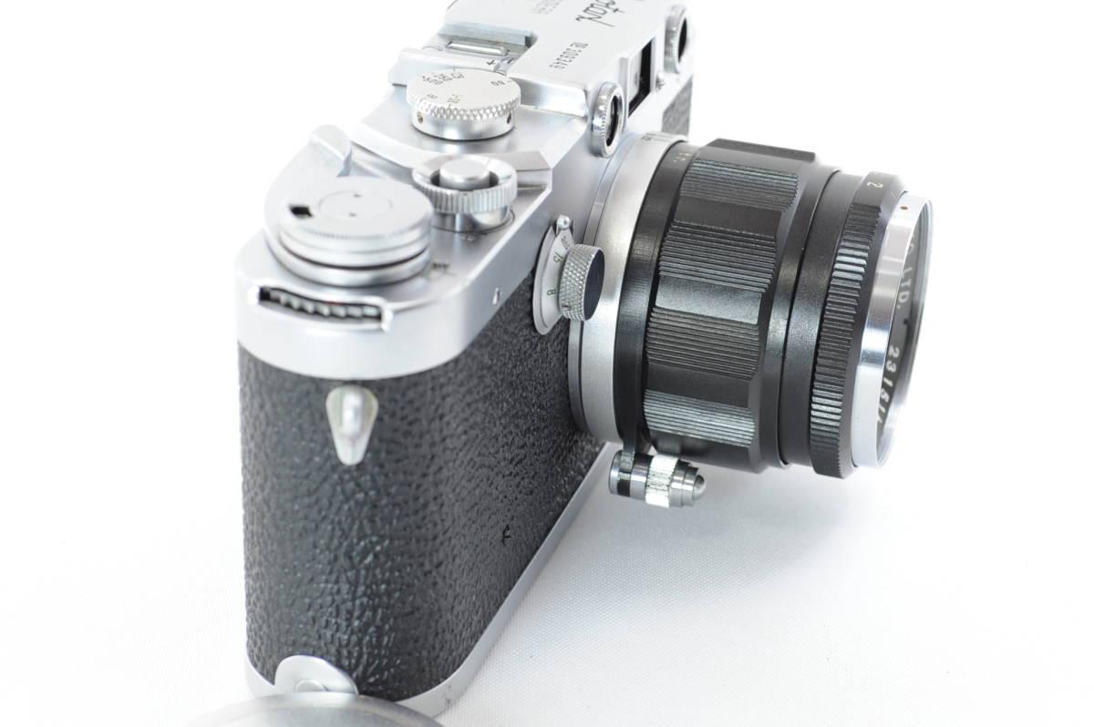 【ecoま】レオタックス Leotax LEONON 5cm F2レンズ付き レンジファインダーカメラ_画像3