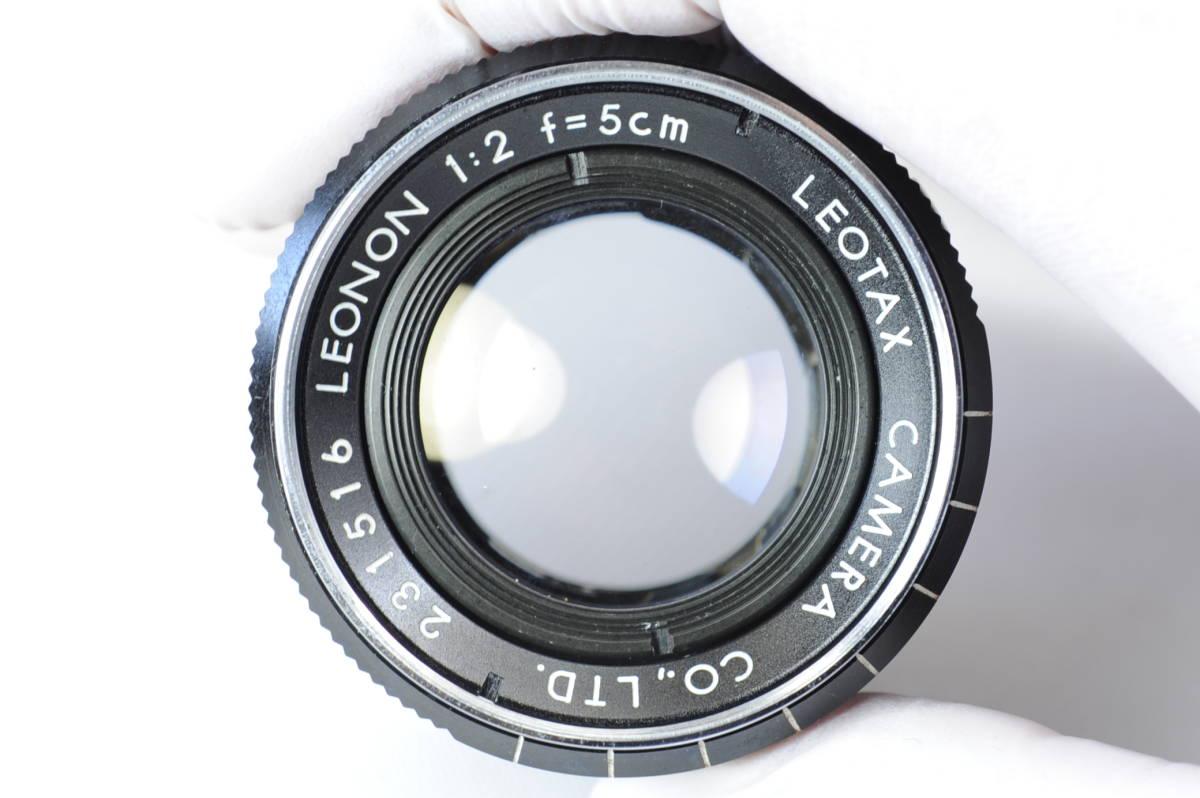 【ecoま】レオタックス Leotax LEONON 5cm F2レンズ付き レンジファインダーカメラ_画像9