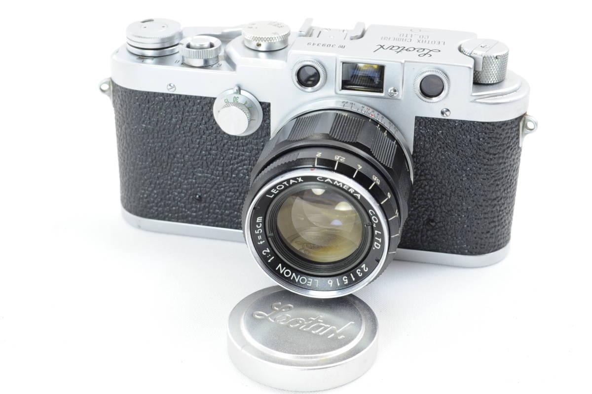 【ecoま】レオタックス Leotax LEONON 5cm F2レンズ付き レンジファインダーカメラ