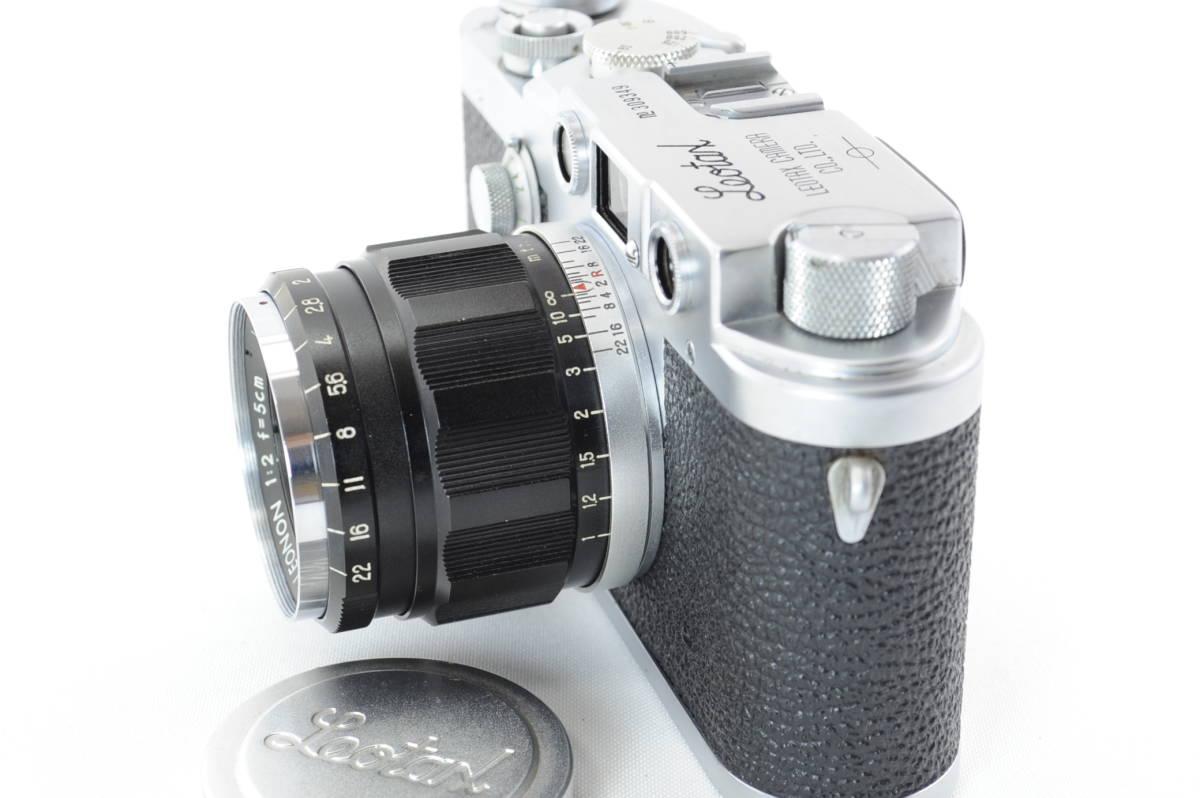 【ecoま】レオタックス Leotax LEONON 5cm F2レンズ付き レンジファインダーカメラ_画像2