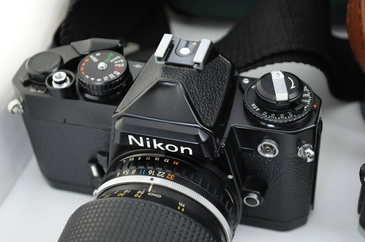 【ecoま】ニコン NIKON NEW FM2/FE レンズセット まとめて3台セット 一眼レフフィルムカメラ_画像4