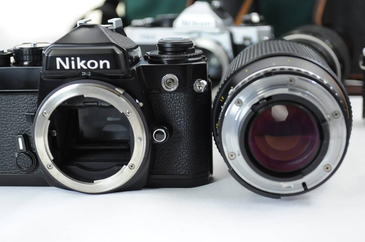 【ecoま】ニコン NIKON NEW FM2/FE レンズセット まとめて3台セット 一眼レフフィルムカメラ_画像10