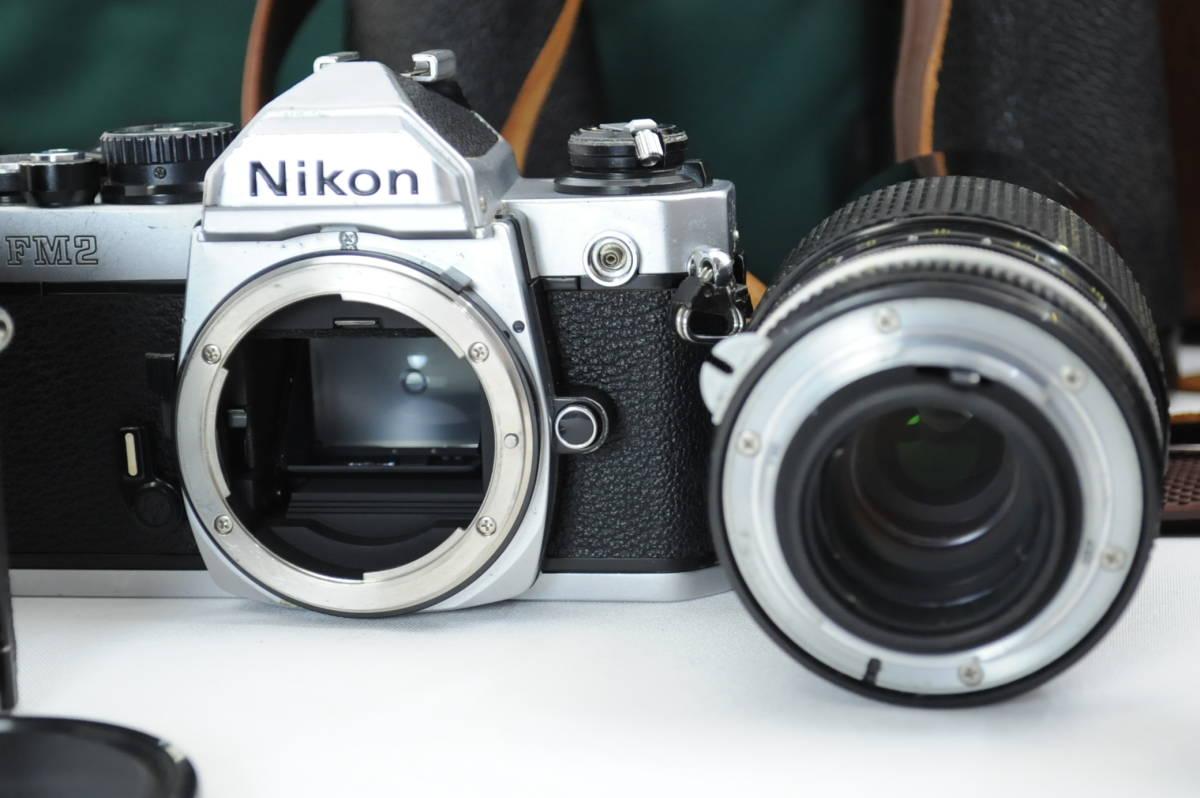 【ecoま】ニコン NIKON NEW FM2/FE レンズセット まとめて3台セット 一眼レフフィルムカメラ_画像9