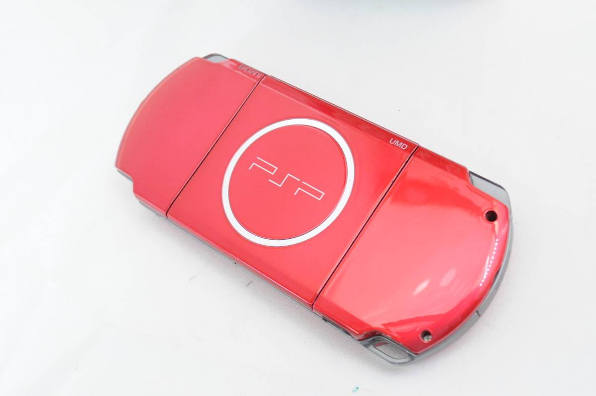【ecoま】SONY ソニー PSP-3000 レッド プレーステーションポータブル_画像2