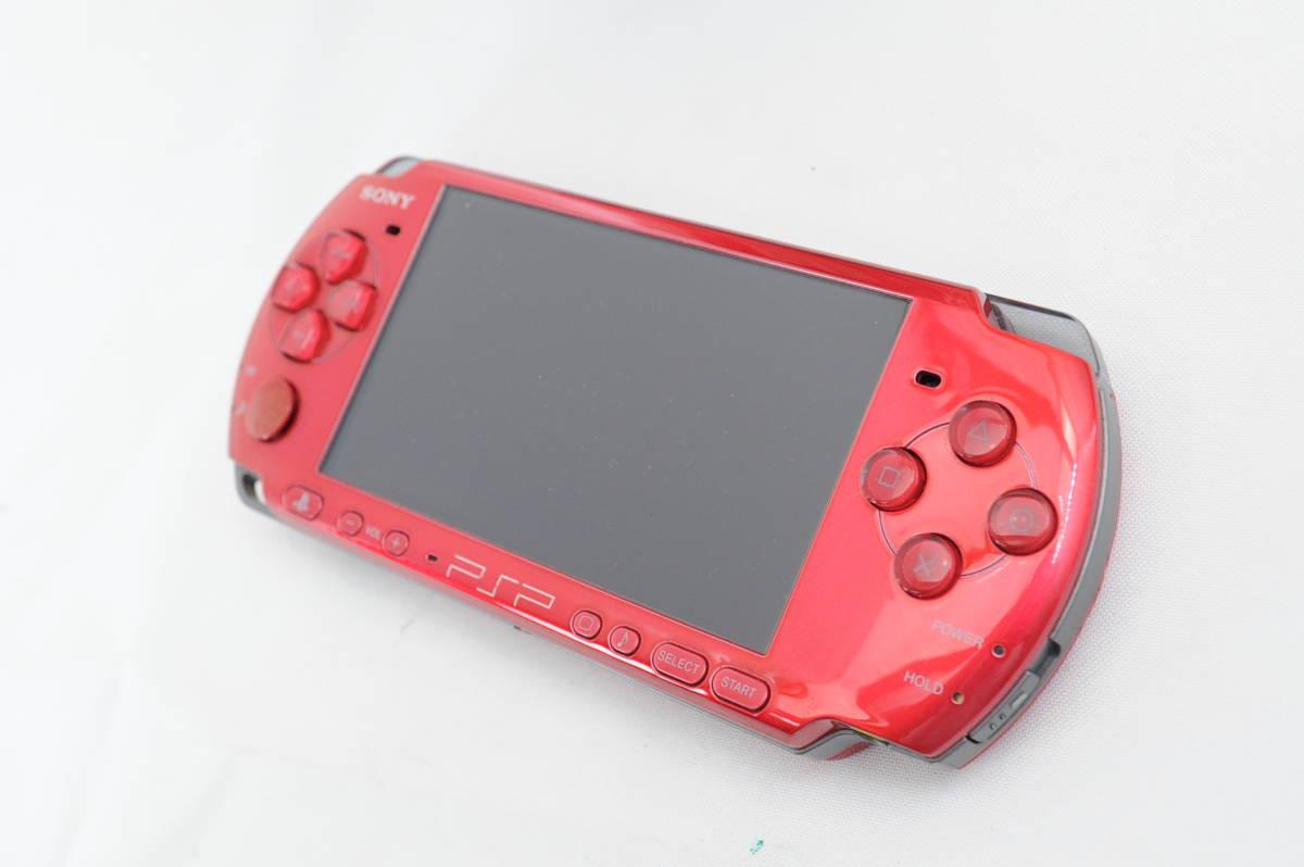 【ecoま】SONY ソニー PSP-3000 レッド プレーステーションポータブル_画像3