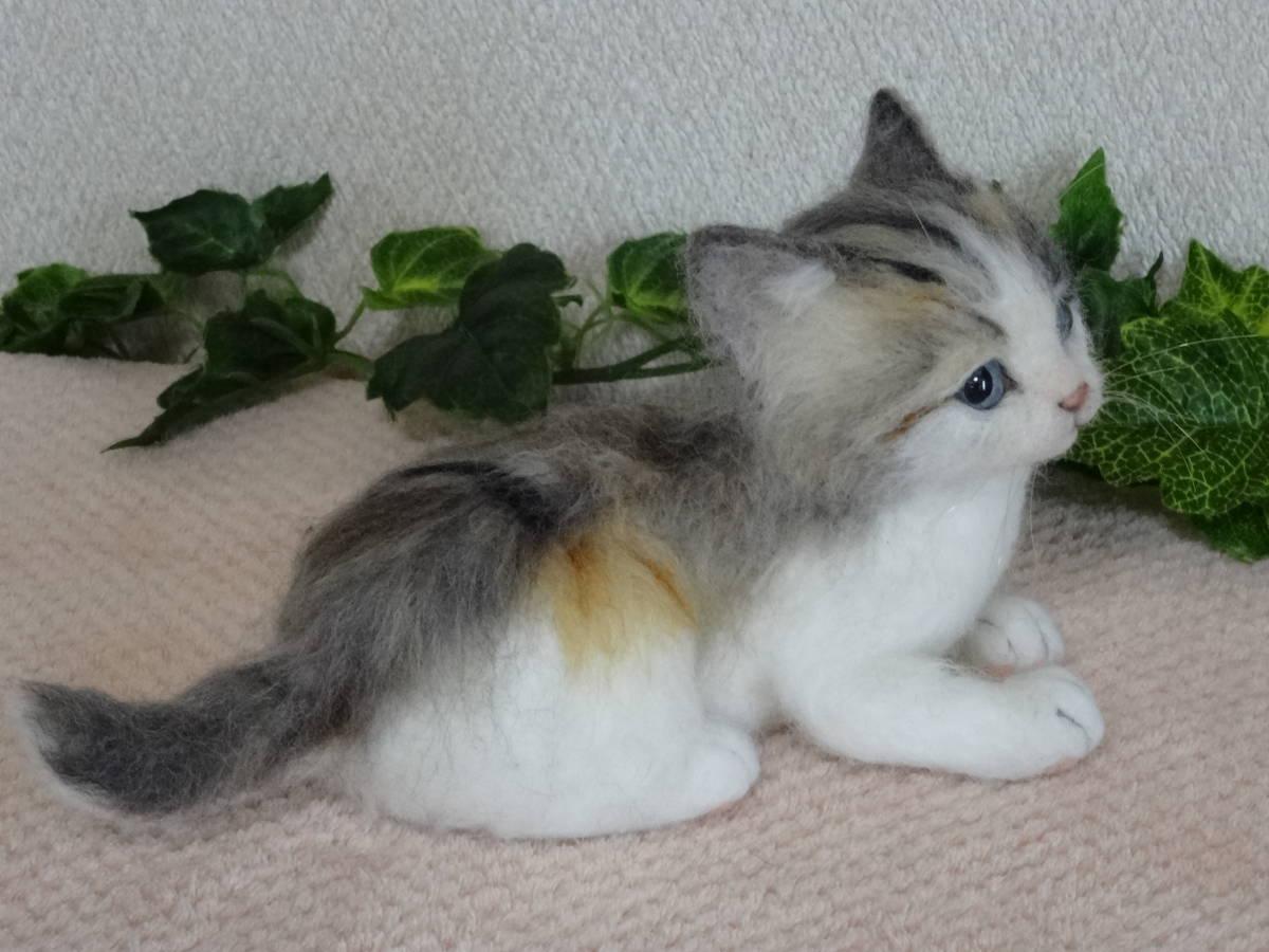 羊毛フェルト*猫*三毛猫*パステル三毛*仔猫*ハンドメイド_画像5