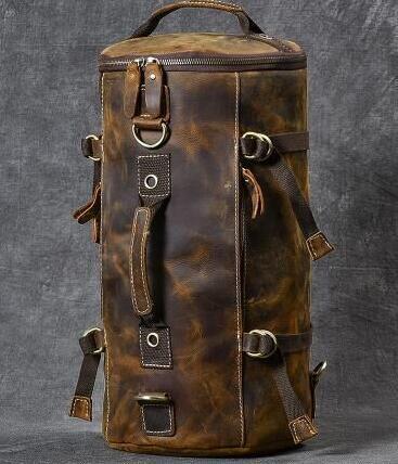 級牛革/復古風/本革レザーバックパック 職人手作り 手染め リュックサック 大容量 アウトドア?レジャーバッグ 旅行鞄