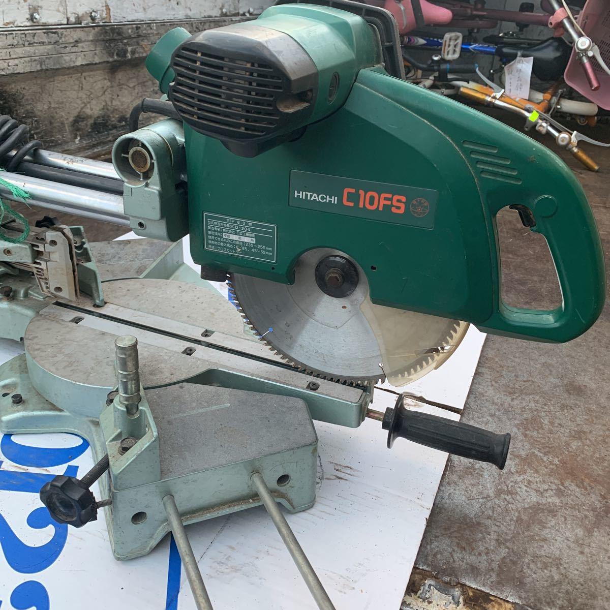 (2)HITACHI  Hitachi Koki  255mm  настольный ...   ... C10FS  проверено на работоспособность