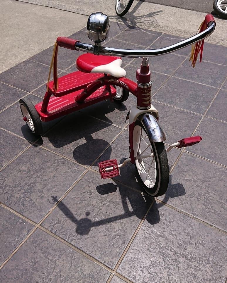 RADIO FLYER ラジオフライヤー三輪車Retro Red カフェ*ハーレー クラッシック ビンテージ 子供乗用玩具おもちゃ 当時物 フリンジ付き