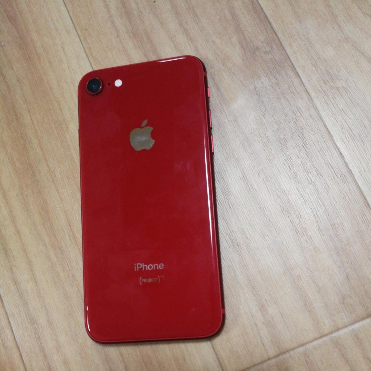 SIMフリーキズ無し iphone8 64gb レッド