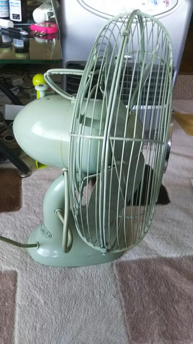 明電舎 MEIDEN 扇風機 DZ-308A 昭和レトロ アンティーク 美品 山梨 緑 ライムグリーン_画像4